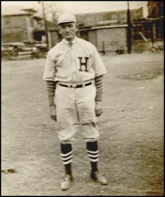 """Picture of Rev. H.C. Ownbey in baseball uniform.Collection(s): Oklahoma Publishing Company Photography Collection. Online at """"The Gateway to Oklahoma History""""."""