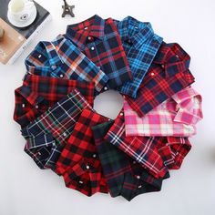 2016 Fashion Plaid Shirt Female College style women's Blouses Long Sleeve Flannel Shirt Plus Size Cotton Blusas Office tops ** See this great product.