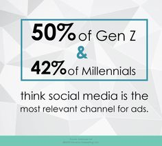 The most effective place to be serving ads to Gen Z and millennials is on social media. They have said themselves, it is the most relevant channel for ads. It is important to listen to what your target audience is telling you. Social Media Statistics, Millennials Are, Target Audience, Digital Marketing, Channel, Told You So, Fandoms, Ads, Sayings