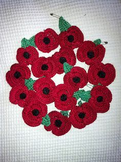 free: Crochet Remembrance Poppy pattern by Bilgewater Davis remember all poppies sold must have all profits to poppy campaign otherwise they are illegal to sell! Crochet Puff Flower, Crochet Flower Patterns, Knitting Patterns, Crochet Ideas, Crochet Crafts, Crochet Yarn, Crochet Projects, Ravelry Crochet, Fast Crochet