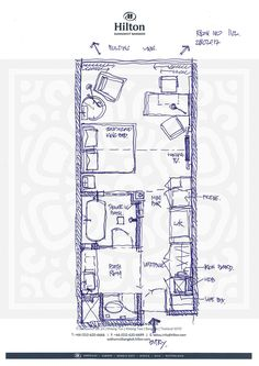 Bath Room Layout Dimensions Floor Plans New Ideas Lofts, Studio Apartment Layout, Studio Layout, Detail Architecture, Luxury Collection Hotels, Hotel Room Design, Hotel Interiors, Room Planning, Suites
