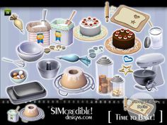 Funny Kitchen series - Time To Bake. More clutter for your sims ^^  Found in TSR Category 'Sims 3 Kitchen Sets'