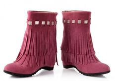 Sfnld Women's Fall Autumn Tassel Increased Within Short Boots -- Want to know more, click on the image.