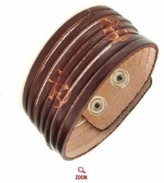 Madrid Leather Cuff Bracelet Nice and Pretty +dreadstop @DreadStop
