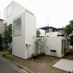 MORIYANA HOUSE IN TOKYO, JAPAN (Sejima and Nishizawa and Associates): A perfect example of a home designed like a community while connecting the inside and outside; this street corner view of the house feels exquisitely private.