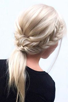 Beautiful ash blonde braided hair