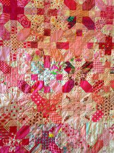 PINK ---Mary on Lake Pulaski: Mid-Century Modern Bee Quilt