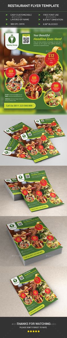 Fast Food Flyer  Flyer Printing Print Templates And Template