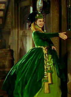 Scarlett O'Hara's green velvet dress