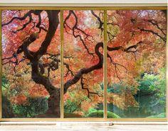 XXL FensterBild Japanischer Garten