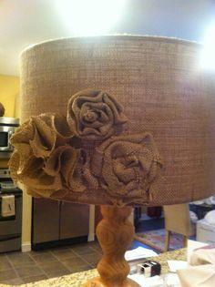 burlap+lamp+shade   Burlap Lamp Shade