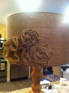 burlap+lamp+shade | Burlap Lamp Shade
