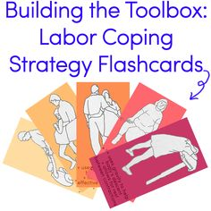 Labor Coping Strategy Flashcards for a Natural, Unmedicated Birth. Since I plan on a natural birth with my first this year, I may need to consult this during labor. Labor Positions, Doula Training, Doula Business, Birth Affirmations, Birth Doula, Pregnancy Labor, Childbirth Education, Midwifery, Tool Box