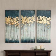 Midnight Forest Gel Coat Canvas with Gold Foil Embellishment 3pcs Set