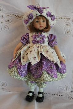 "13"" Effner's Little Darling ""SOMETHING IN PURPLE"" Dress Ensemble."