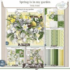 Spring is in my Garden by Moosscrap's Designs http://digital-crea.fr/shop/index.php?main_page=index&manufacturers_id=182 http://www.oscraps.com/shop/MoosScraps/