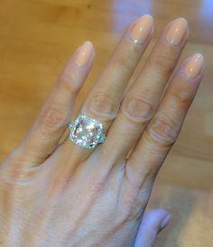 Platinum Diamond Halo Pink Morganite Engagement Ring 10mm Cushion Cut & Round Natural Diamonds Anniversary Pristine Custom Rings by PristineCustomRings on Etsy https://www.etsy.com/uk/listing/260681926/platinum-diamond-halo-pink-morganite