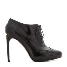 Callander Brogued Leather Ankle Boots ☼ Burberry London ✽ mytheresa.com