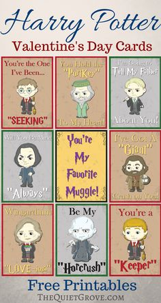 Free Harry Potter Valentine's Day Cards
