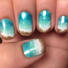 Ocean & Sand Nail Art — for days I have the time and patience.