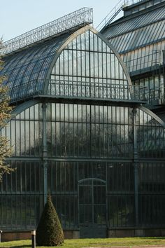 The greenhouses at Parc de la Tête d'Or, Lyon, Rhône-Alpes, France