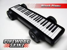 Pinewood Derby Car Graphics Black Piano | eBay