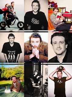Jason Segel x9 ..love collage idea - several different images of one person..
