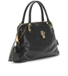 Black Rio Studded Leather Tote By Marc Jacobs. love this purse. is my favorite christmas present this year.