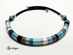 Sylenteri statement necklace handmade wrapped with by Gydesi, $32.00