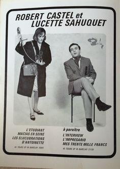 En mars 1967, Robert Castel et Lucette Sahuquet se retrouvent dans un spectacles de variétés au Théâtre du Boulevard ou naturellement ils jouent des sketchs dans le registre Pieds-Noirs. Robert Castel est un acteur et humoriste français juif d'Algérie, né le 21 mai 1933 à Bab El-Oued, en Algérie, à [...]
