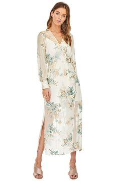 Light Floral Tie Neck Tea Dress - Multi Mango Sale Top Quality Cheap Online Online Cheap Authentic Order Cheap Online Official Sale Online TgqJTi