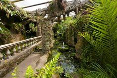 The Lion grotto, Dewstow Gardens Lost Garden, Water Garden, Famous Gardens, Amazing Gardens, Terrace Garden, Garden Bridge, Underground Garden, Tropical Greenhouses, English Garden Design