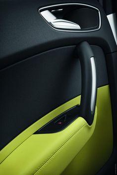 2012 Audi A1 Sportback green black handle door window car interior fresh leather modern: