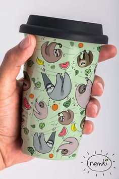 And an insulated mug for bringing hot drinks (and your sloth obsession) on the go. | 27 Adorable Gifts For People Who Love Sloths