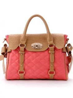 Pink Messenger Totes Bag With Bow$50.00