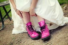 These are actually my wedding shoes, but with a bit of a heel and my something blue laces