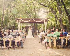 Gorgeous Outdoor Wedding Ceremony Space in Denton, Texas - Dallas and Fort Worth Wedding Venue - Wildwood Inn #dfw #waltersweddingestates #denton #outdoorwedding