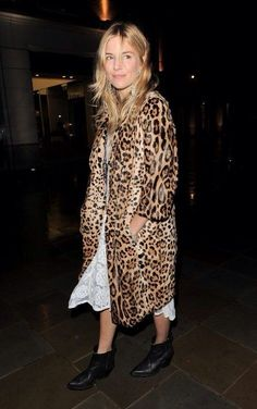 Sienna looking beautiful in leopard and lace