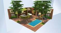Check out this room in The Sims 4 Gallery! - #pool#bar#room