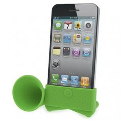 Our silicone speaker amplifies by 13dB your mobile phone speaker for great louder music, it also can be used as a phone stand for videos. Find it on PlugyPromotion.com