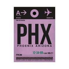 """PHX Phoenix Luggage Tag Print - 18 x 24"""" - $50 ($20 on Touch of Modern)"""