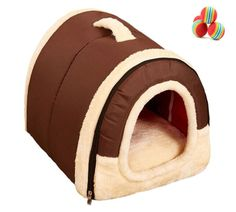 Cozy Pet Dog Cat Cave,MandG House Portable Arch House Soft Sided Plush Pillowed Indoor Puppy Convertible Pet Bed *** You can find more details by visiting the image link. (This is an affiliate link and I receive a commission for the sales)