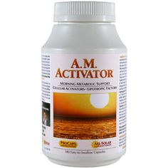 A.M. Activator™ - Designed as a safe and healthy means of improving energy levels while supporting the body's fat burning metabolism. Ephedra-free formulation.
