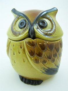"Vintage Metlox Poppytrail California Owl Small Ceramic Canister Pottery 7"""