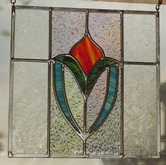 New Edwardian Rose Leaded Stained Glass Window