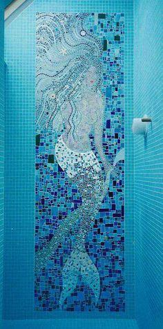 Mermaid in the shower