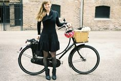 gorgeous Dottie cycling in style