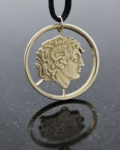 Greece - Cut Coin Pendant with Alexander the Great Alexander The Great Quotes, Alexander The Great Statue, Ancient Egyptian Art, Ancient Aliens, Ancient Greece, Alexandre Le Grand, Silver Dollar Coin, European History, American History