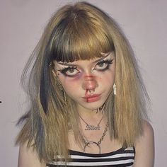 Edgy Makeup, Grunge Makeup, Dark Makeup, Cute Makeup, Makeup Looks, Lolita Makeup, Asian Makeup, Korean Makeup, Aesthetic Makeup