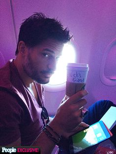 MORNING BUZZ photo | Joe Manganiello HE DRINKS COFFEE!!!!!!!!!!!!!!!!!!!!!!
